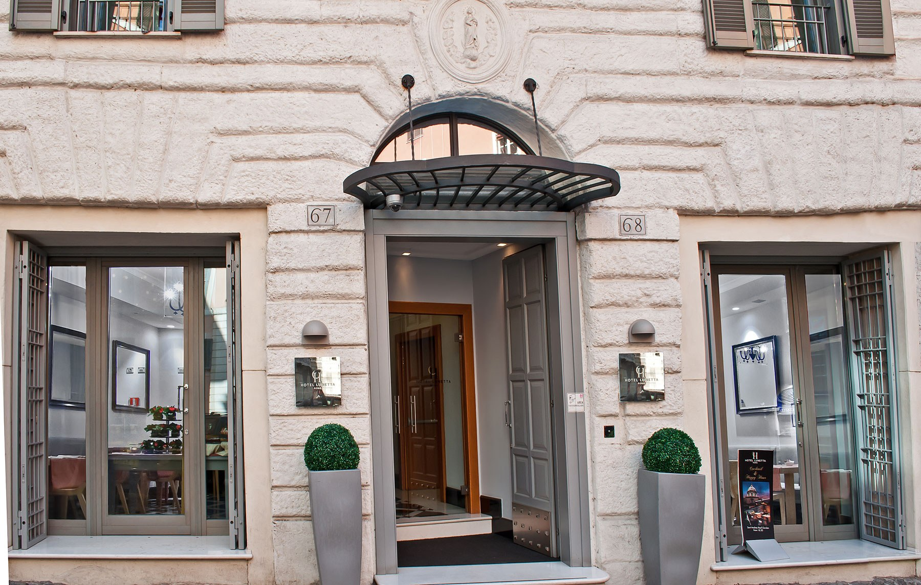 Hotel lunetta boutique hotels rome for Hotel boutique rome