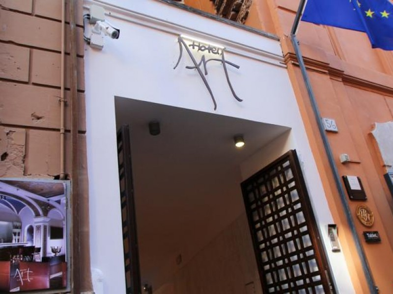 The door at the Boutique Hotel Art Rome