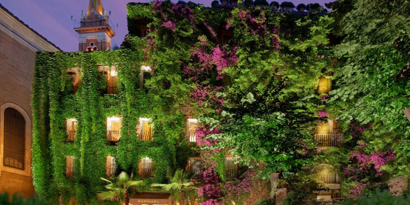 Raphael luxury boutique hotel Rome