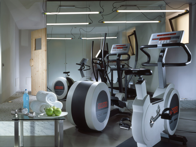 Fitness area at the Hotel Art